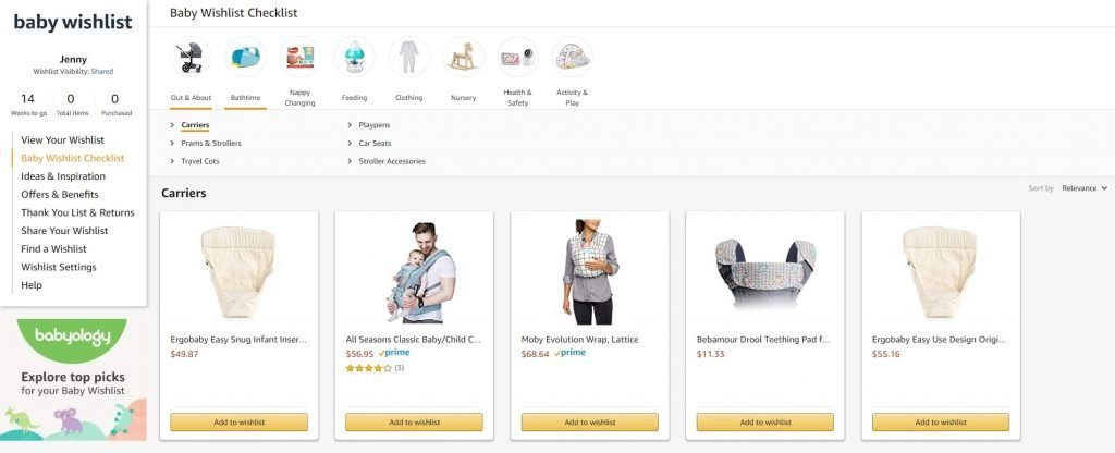 baby registry with australian products