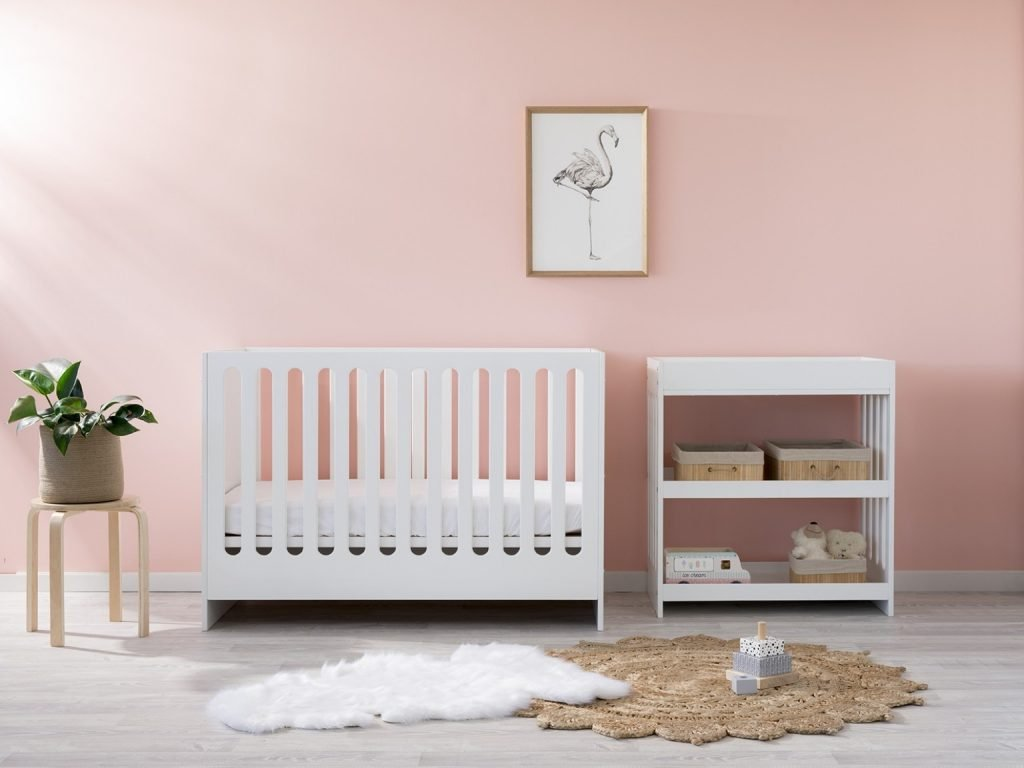 white baby furniture package