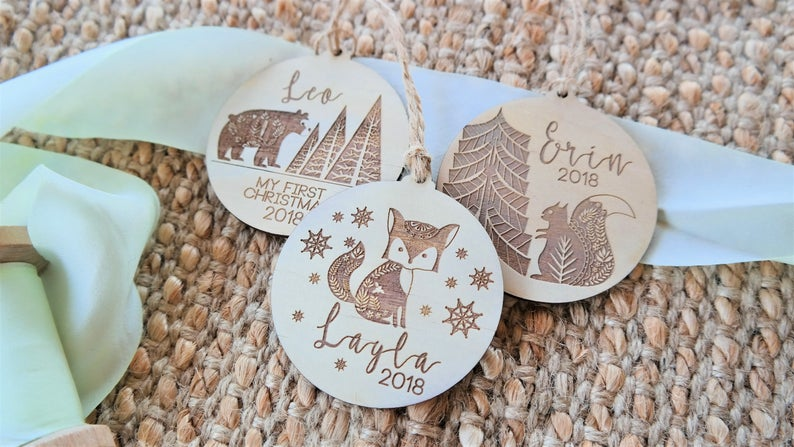 Laser Etched Premium Ply Wood Christmas Decoration