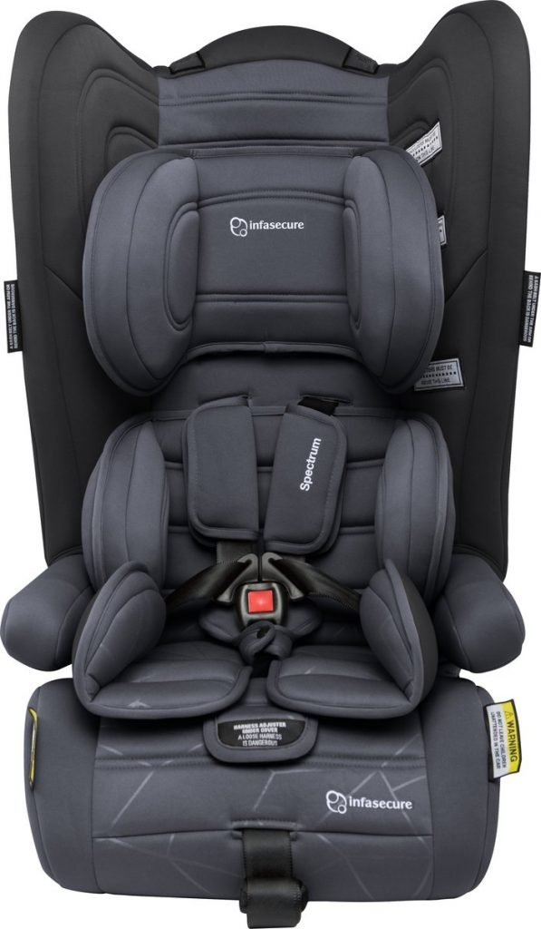 Infasecure Spectrum Quantum convertible car seat in charcoal